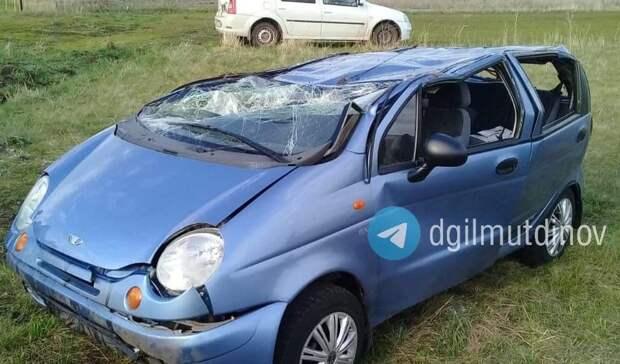 В Башкирии водитель улетел в кювет с опрокидыванием