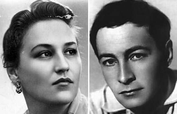 Нонна Мордюкова и Вячелав Тихонов.