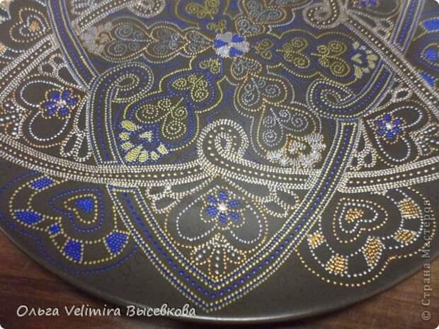 Декор предметов Роспись Тарелка Сердце Востока МК для начинающих Краска Стекло фото 13