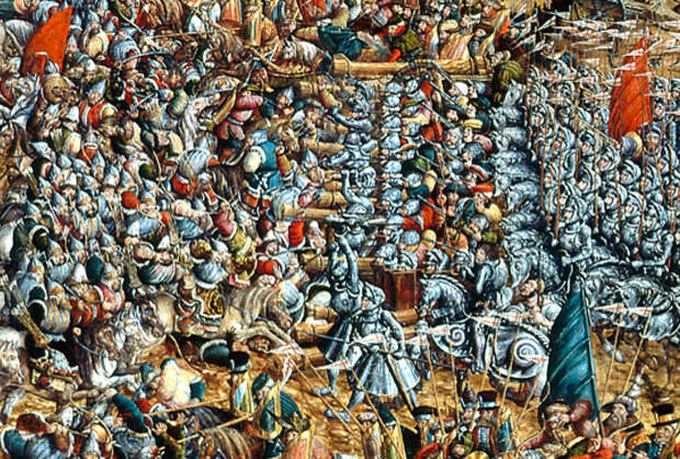 Битва ливонского войска с московским