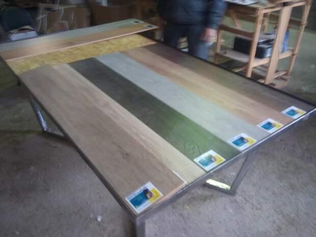 Прикидываем покрытие из ламината. дизайн, рукожопство, своими руками, сделай сам, стол
