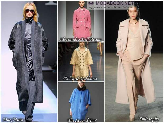 Разная структура материала пальто