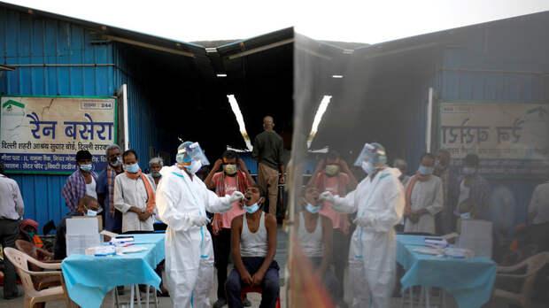 В Индии за сутки выявили более 80 тысяч случаев коронавируса
