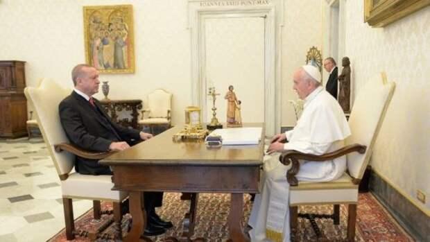 Эрдоган попросил папу римского вмешаться в«резню» Израилем палестинцев