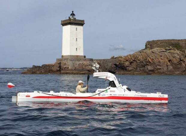 70-летний пенсионер успешно пересёк Атлантику на каяке — в третий раз Александр Доба, каяк, океан, пенсионер, путешествие