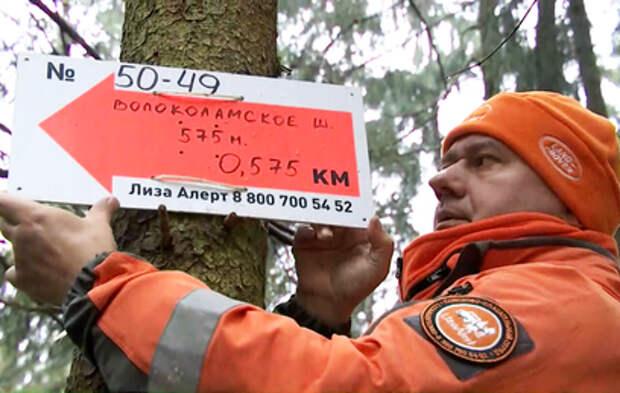 """Волонтёры """"ЛизаАлерт"""" установили в лесах Подмосковья быструю навигацию"""
