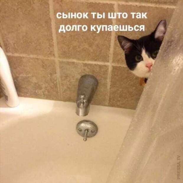 Если кто-то долго принимает ванну значит, на то есть причины