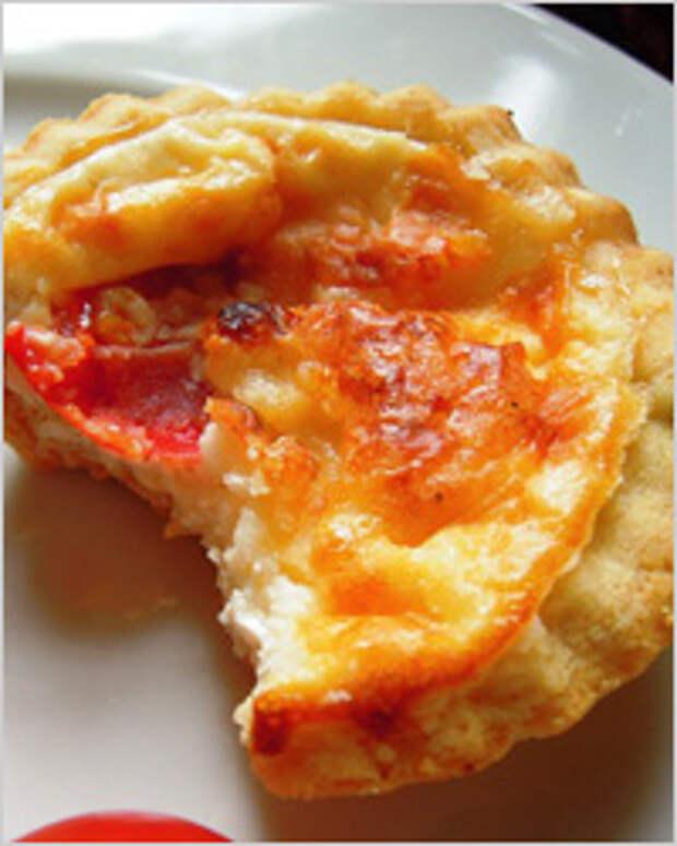 Тарталетки с начинкой из картофеля и бекона