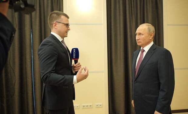 Владимир Путин ответил на вопросы журналиста телеканала