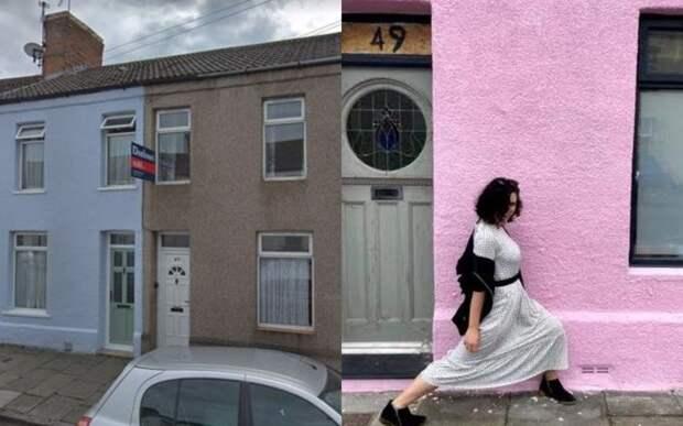 Женщина покрасила дом в розовый и пожалела: ей покоя не дают любители селфи