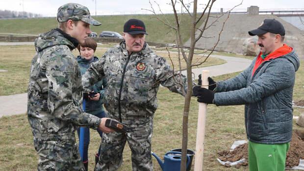Лукашенко провел субботник на малой родине