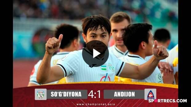 Superliga. So'g'diyona - Andijon 4:1. Highlights