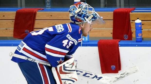 Шатаут Хелльберга помог СКА обыграть «Северсталь»
