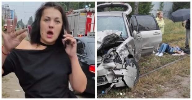Пьяная автоледи устроила аварию спострадавшими исплясала накамеру