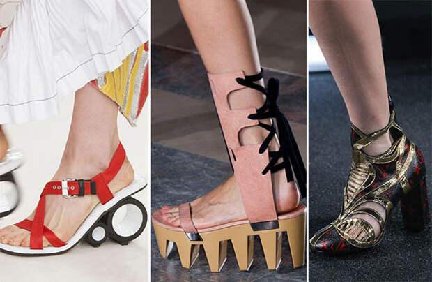 Очень необычные модели туфель с изощренным дизайном - тенденции весна-лето 2015