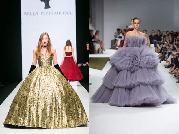 Пышные платья макси 2017