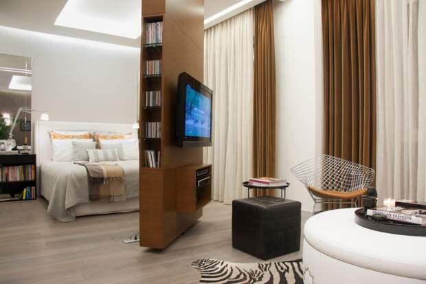 Стандартная расстановка мебели для такого помещения