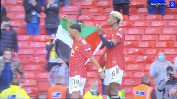 Погба и Диалло вынесли палестинский флаг после матча с «Фулхэмом»