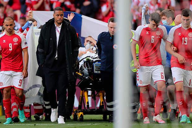Эриксен покидал поле в сознании. Футболиста увезли в больницу