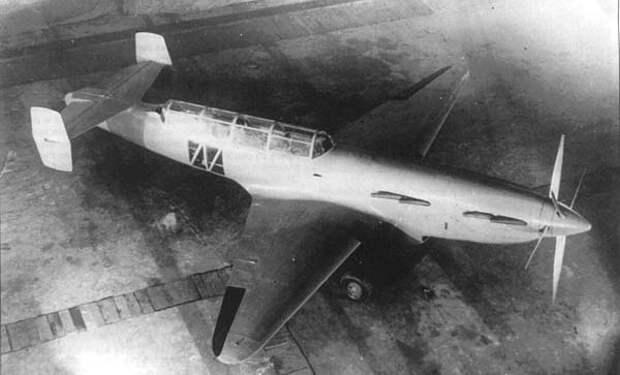 И-1.2хМ-107. Дальний истребитель. Проект. Болховитинов. СССР. 1940г