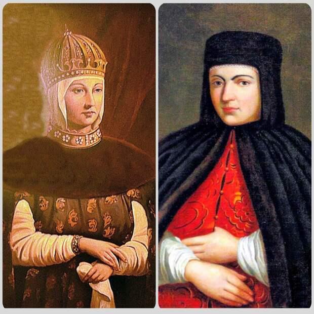 Мария Милославская и Наталья Нарышкина
