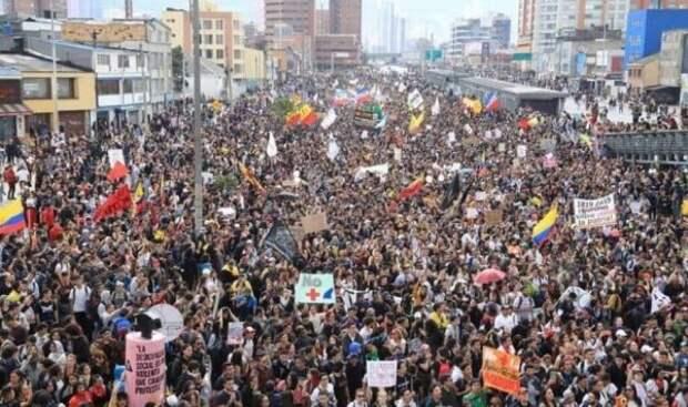 Профсоюзы Колумбии анонсировали масштабные акции протеста