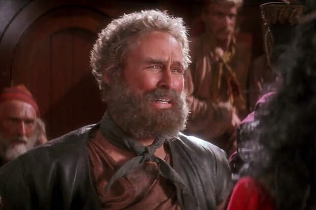 Кадр из фильма «Капитан Крюк», 1991 года, Гленн Клоуз в эпизодической роли