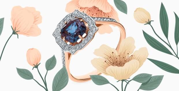 Помолвочные кольца в стиле ар-деко