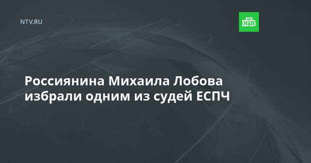 Россиянина Михаила Лобова избрали одним из судей ЕСПЧ