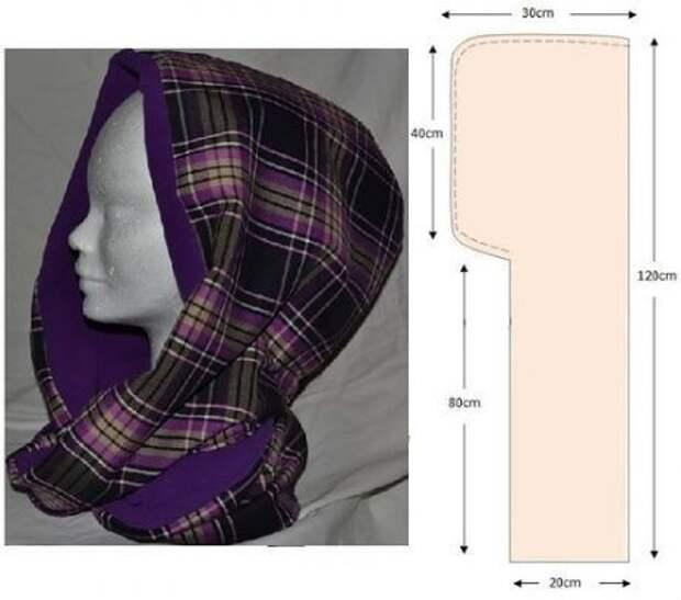 Выкройка жилетки накидки с капюшоном