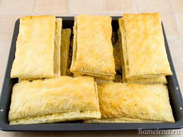 Торт «Наполеон» из слоеного теста — 8 шаг