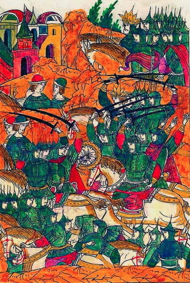 Второй день битвы. Хан одолевает Шереметева.