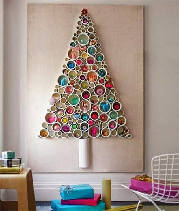 Новогоднее настроение возможно создать с помощью создания удивительной елочки своими руками.