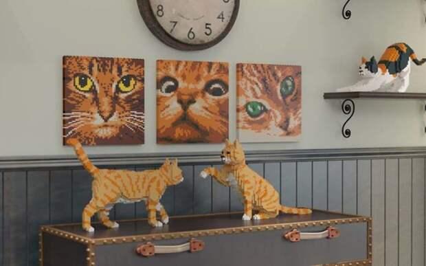 Кошки-Лего — для тех, кому живых кошек недостаточно дизайн, домашние животные, животные, конструкторы, кошки, креатив, лего