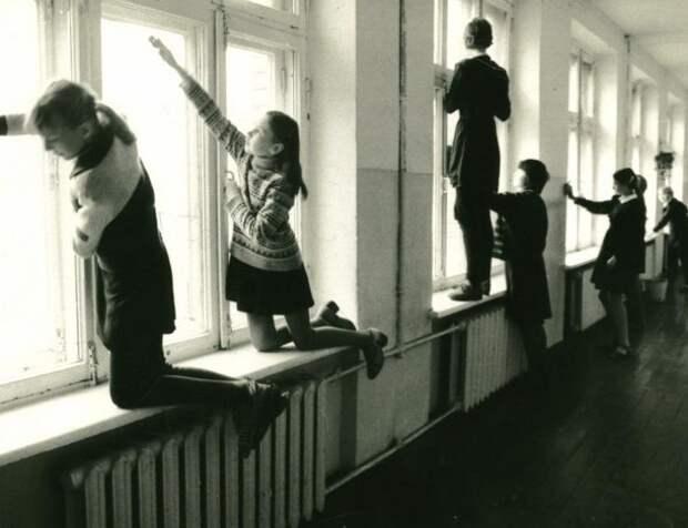 Окна мыли и утепляли в сезон Дежурство, как это было, ностальгия, фото, школа