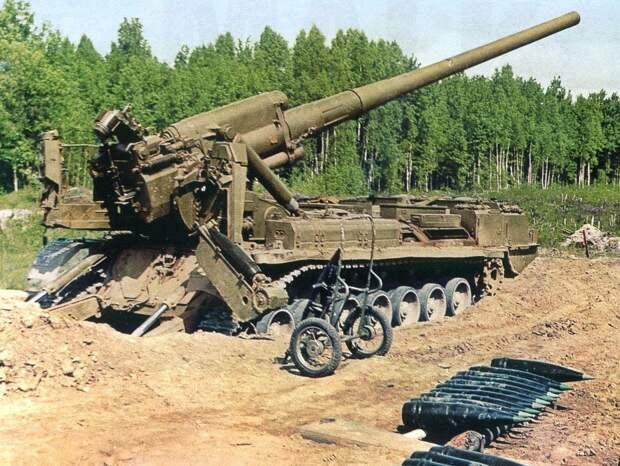 САУ 2С7 Пион — самое мощное орудие