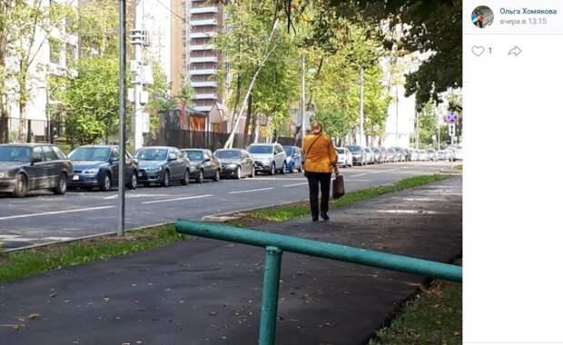 Фото дня: бесконечная парковка в Валдайском