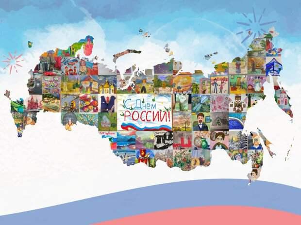 Буцкая передаст президенту по случаю Дню России карту страны из детских рисунков