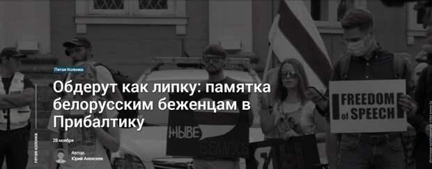 Обдерут как липку: памятка белорусским беженцам в Прибалтику