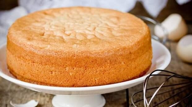 Пышный бисквит без масла и яиц: научилась готовить его на кипятке