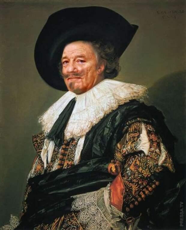 Если лица на известных картинах заменить  лицом Билла Мюррея