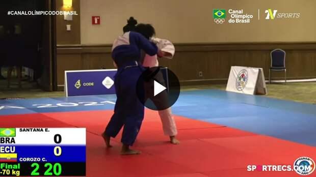 Ellen Santana conquista medalha de ouro no Pan-Americano de Judô (16/04/2021)