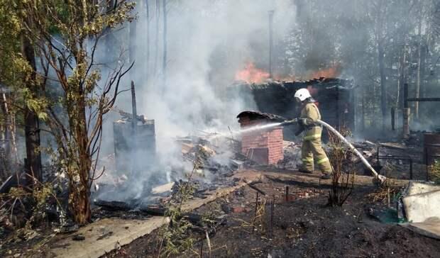 Баня, надворные постройки иживотные сгорели вовремя пожара вЧерноисточинске