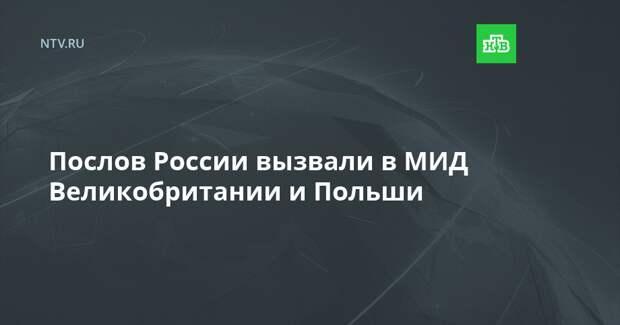 Послов России вызвали в МИД Великобритании и Польши