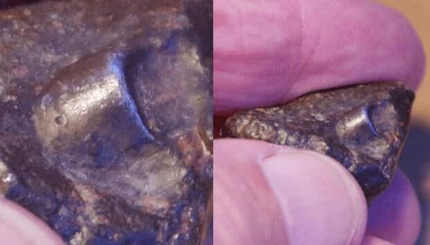 Найден метеорит с фрагментом древнего космического корабля