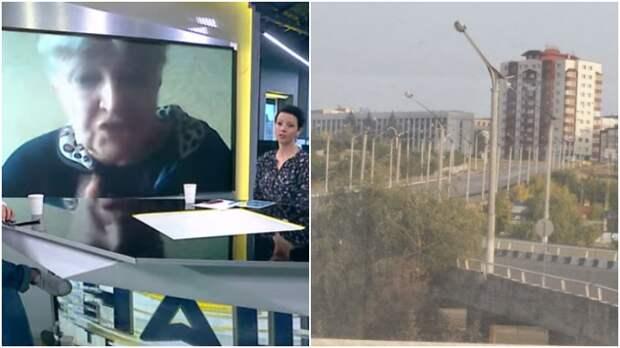 """Пенсионерка из Донбасса дозвонилась на украинское ТВ с рассказом о жизни в ЛНР / Коллаж: ФБА """"Экономика сегодня"""""""