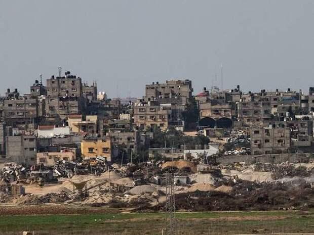 Высотное здание в секторе Газа снесло с лица земли от удара Израиля