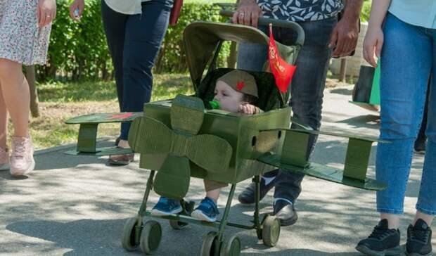 Парад детских колясок в виде танков прошел на Ставрополье