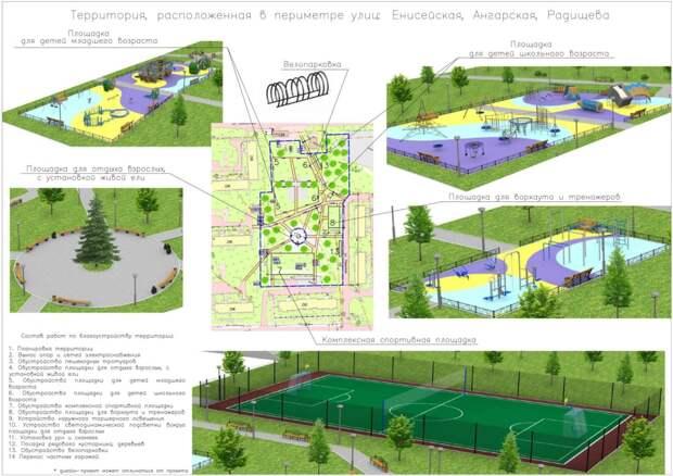 Жители Братска выбирают дизайн-проекты благоустройств из восьми территорий