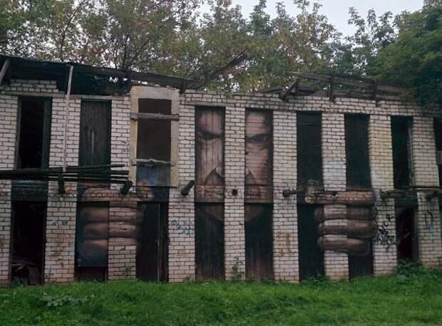 Очень суровое граффити в Нижнем Новгороде: